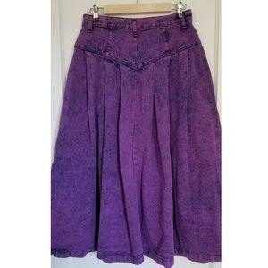 Sundance Vintage Denim Acid Washed Purple Skirt